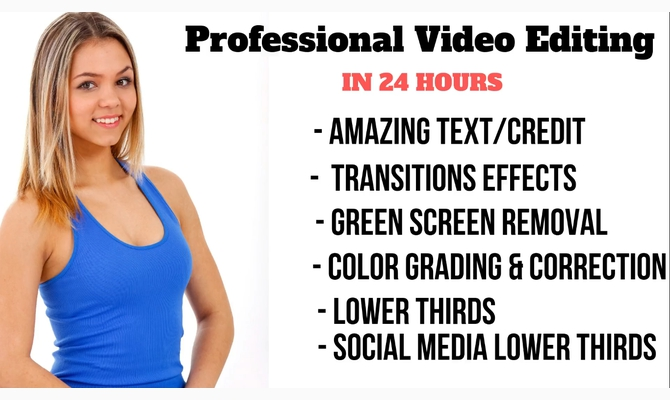 Do Professional Video Editing In 24 Hours